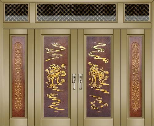 2000型铜雕门-1