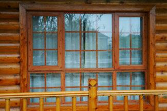 木纹平开窗